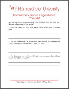 room-organization-checklist