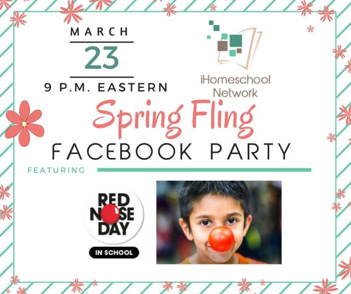 March 23, 9 p.m. Eastern Spring Fling Facebook Party | iHomeschool Network #ihsnet