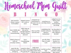 Homeschool Mom Guilt BINGO