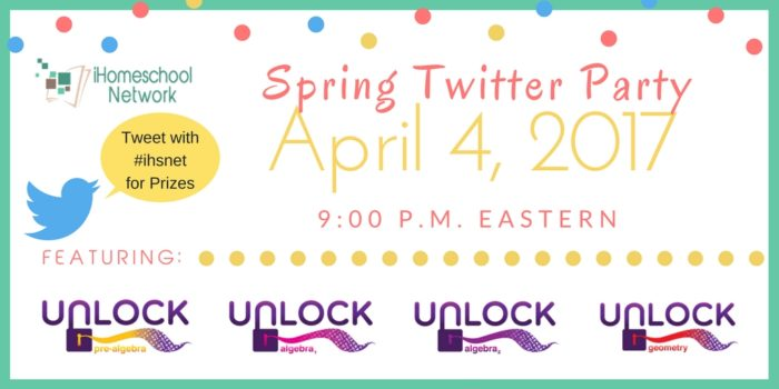 #ihsnet Spring Twitter Party with @iHomeschoolNet | April 4, 2017 9 p.m. Eastern