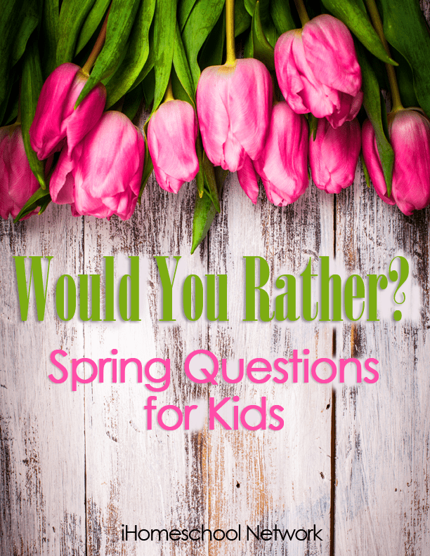 Would You Rather? Spring Cards for Kids...free download!