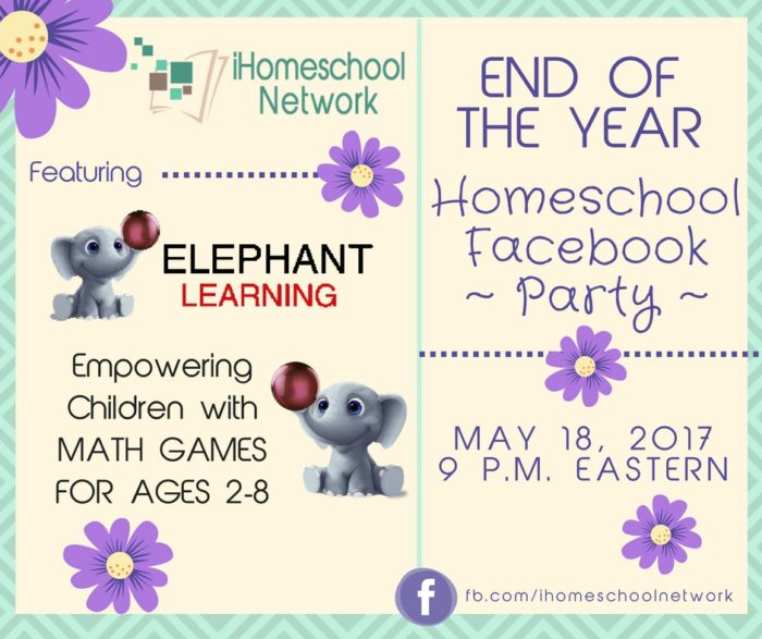 End of the Year Homeschool Facebook Party featuring @ElephantLearning| iHomeschool Network #ihsnet