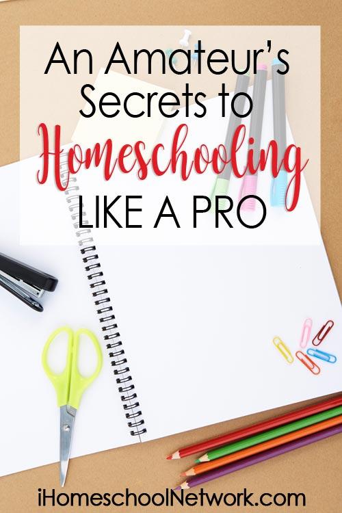 An Amateur's Secrets to Homeschooling Like a Pro