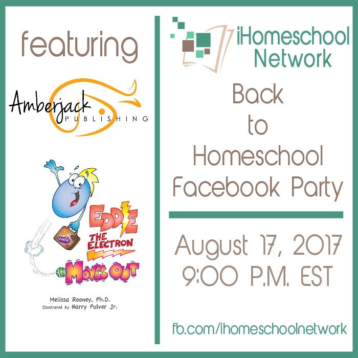 Join iHomeschool Network for a Back to Homeschool Facebook Party August 17, 2017 at 9:00 P.M. EST
