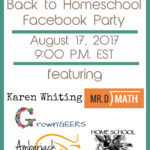 Back to Homeschool Facebook Party 2017