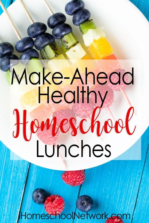 Preparing healthy homeschool lunches is a challenge. Here are one homeschool mom's great tips and meal ideas to stop the daily lunchtime scurrying.