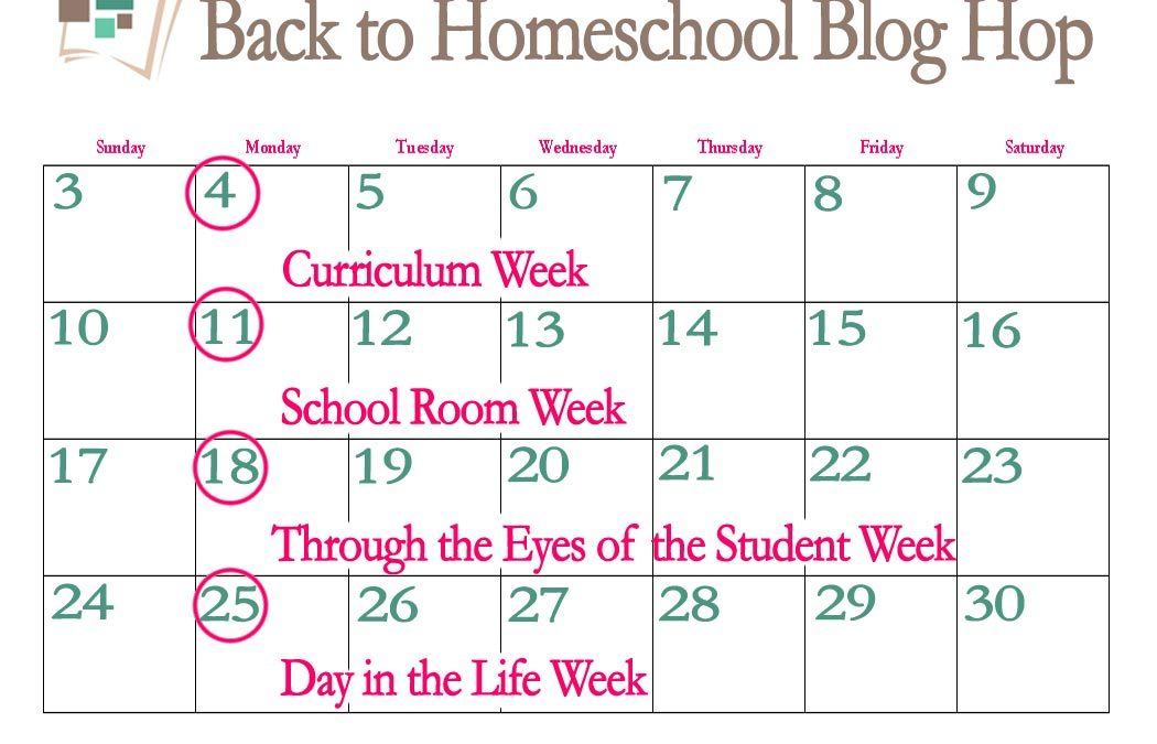 9th Annual Back to Homeschool Blog Hop: Day in the Life Week