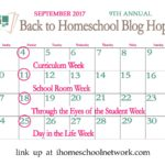 9th Annual Back to Homeschool Blog Hop: Through the Eyes of the Student Week