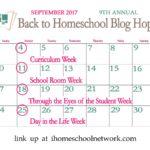 9th Annual Back to Homeschool Blog Hop: School Room Week