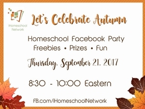 Let's Celebrate Autumn with a Homeschool Facebook Party