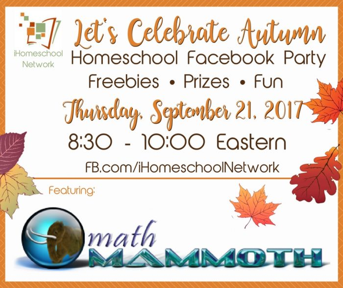 Let's Celebrate Autumn with a Homeschool Facebook Party | #ihsnet #homeschool