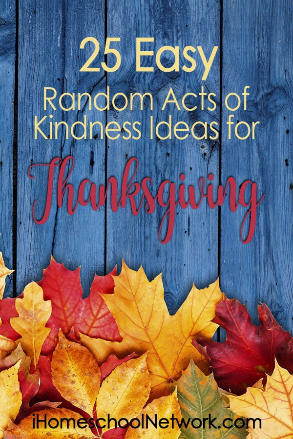 25 Easy Random Acts of Kindness Ideas for Thanksgiving