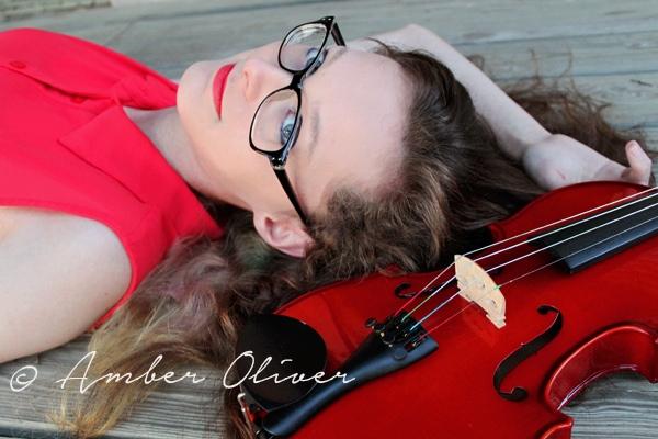 DIY Senior Portrait Violin