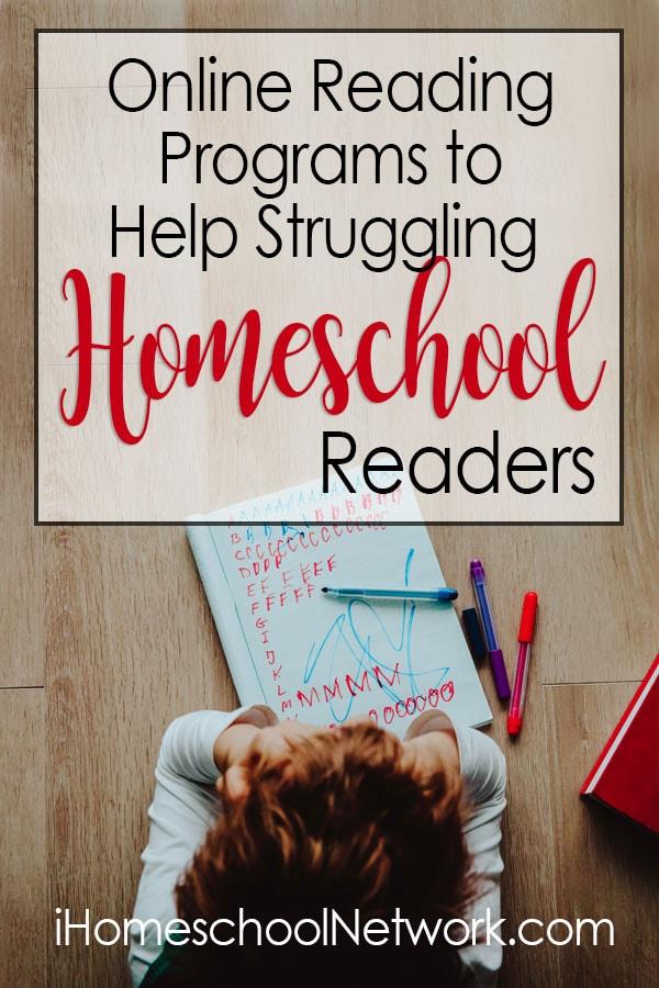 Online Reading Programs to Help Struggling Homeschool Readers