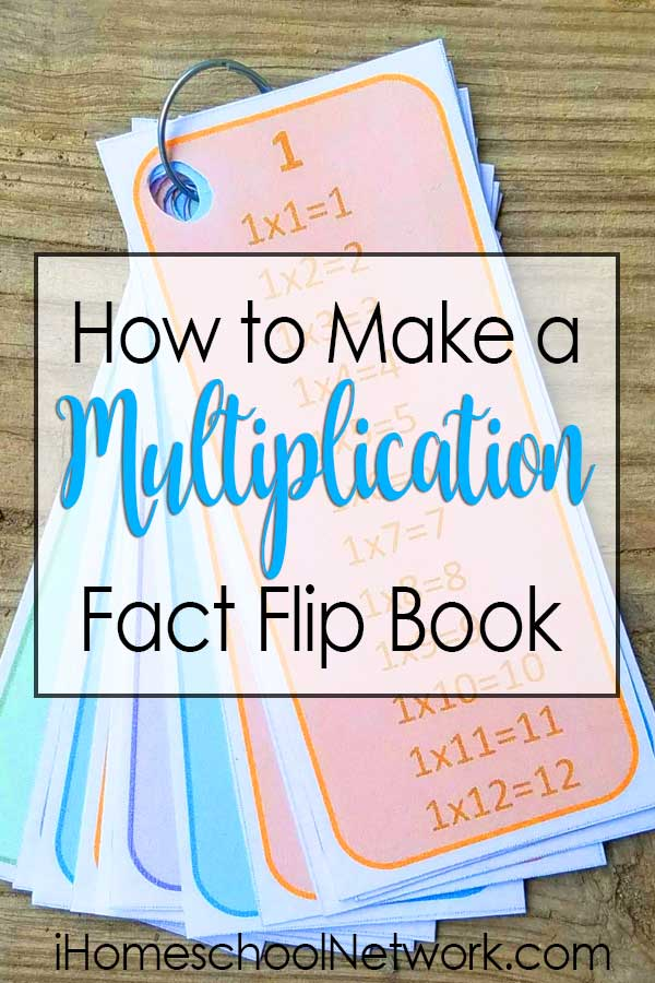 How to Make a Multiplication Fact Flip Book