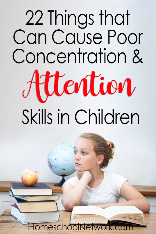 22 Things that Can Cause Poor Concentration and Attention Skills in Children