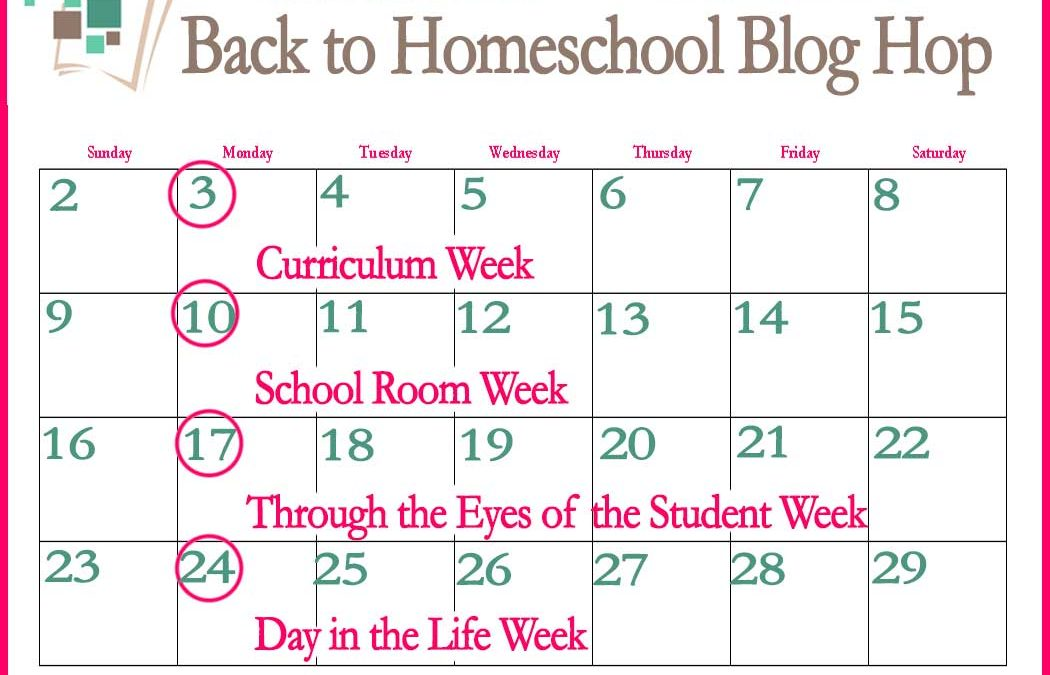 10th Annual Back to Homeschool Blog Hop: Day in the Life