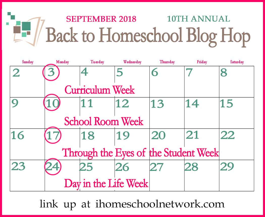 iHomeschool Network 10th Annual Back to Homeschool Blog Hop