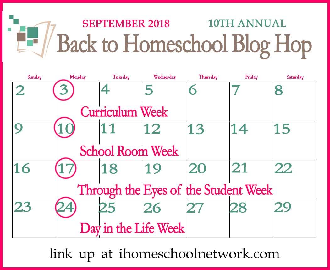 iHomeschool Network 10th Annual Back to Homeschool Blog Hop