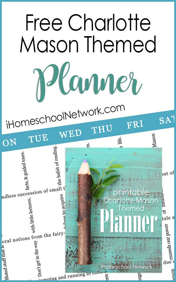 Our free gift to you...a delightful Charlotte Mason-inspired life and homeschool planner. In this planning packet you'll receive: **2 lined writing pages (print as many as you need), **7 weekly planning pages for Sunday through Saturday, **12 monthly calendar pages. Instead of using lines to form outlines and grids, we designed these planner pages with Miss Mason's wise words to add inspiration to your homeschool organization.