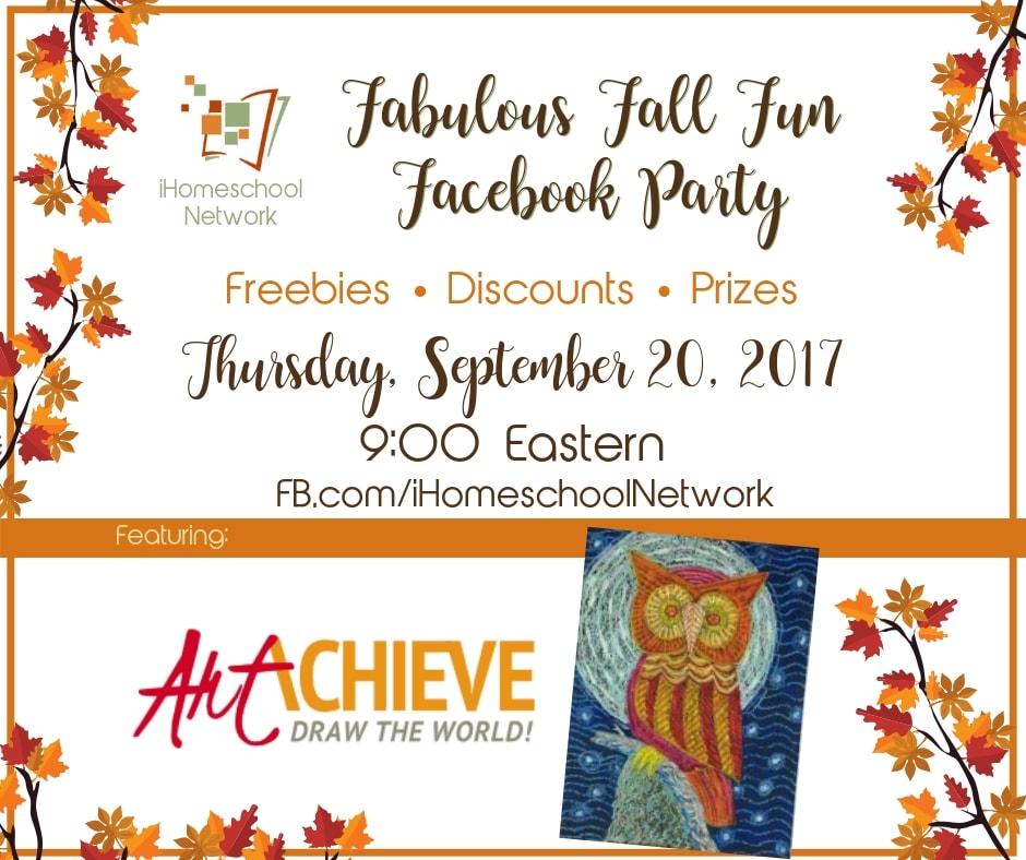 Art Achieve Fabulous Fall Fun Facebook Party with iHomeschool Network #ihsnet #
