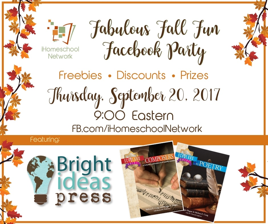 Bright Ideas Press Fabulous Fall Fun Facebook Party with iHomeschool Network #ihsnet #