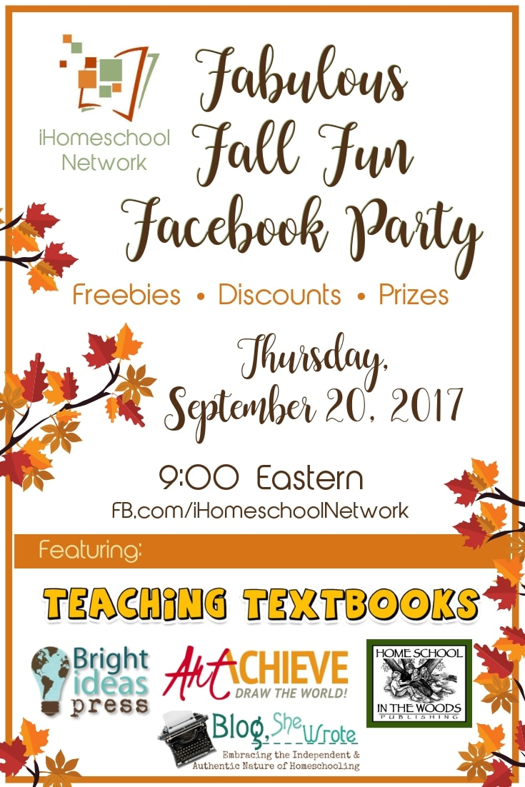 Fabulous Fall Fun Facebook Party with iHomeschool Network #ihsnet #homeschoolparty #facebookparty