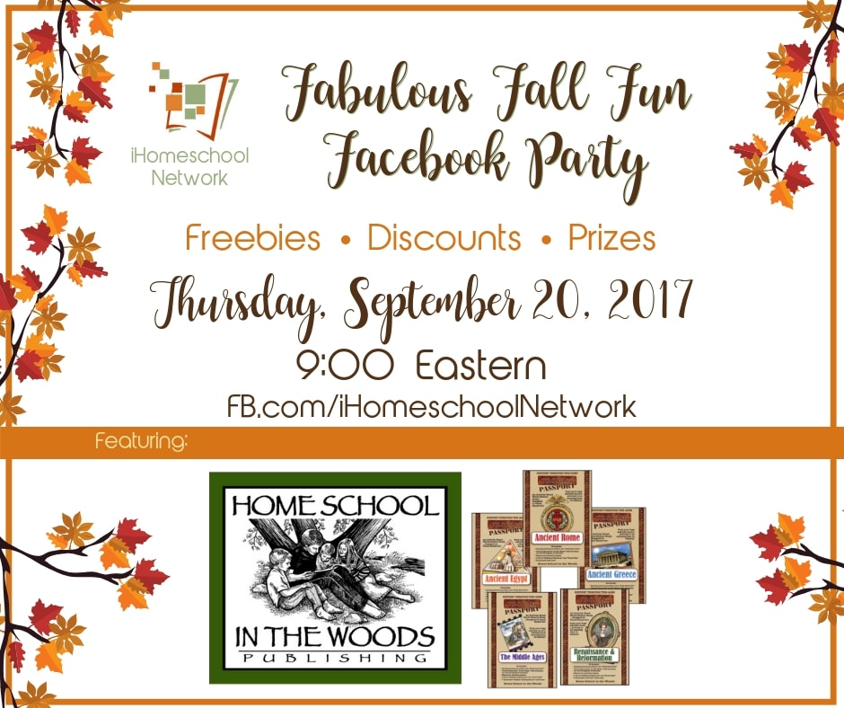 Homeschool in the Woods Fabulous Fall Fun Facebook Party with iHomeschool Network #ihsnet #