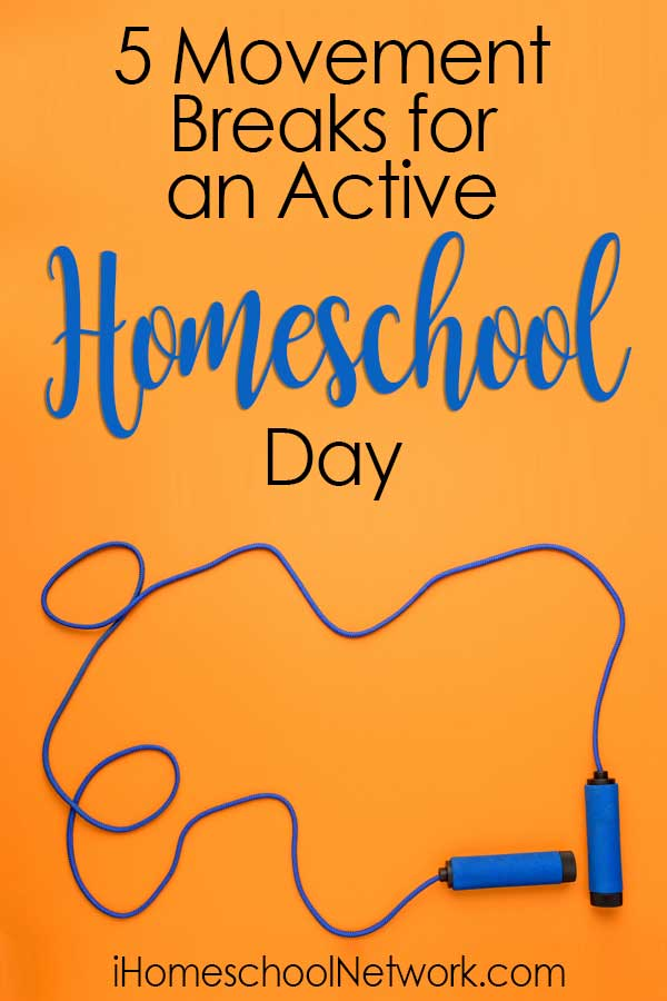 5 Movement Breaks for an Active Homeschool Day