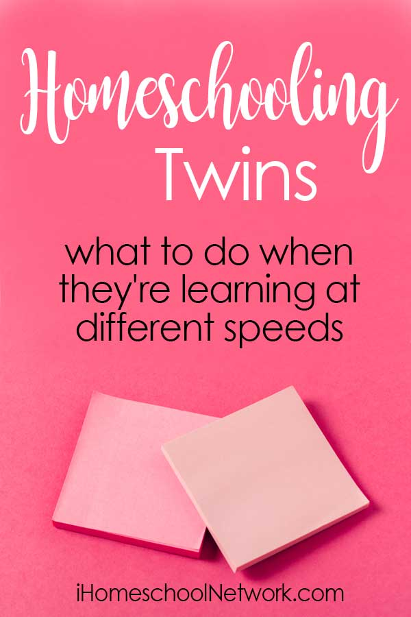 Homeschooling Twins - what to do when they're learning at different speeds