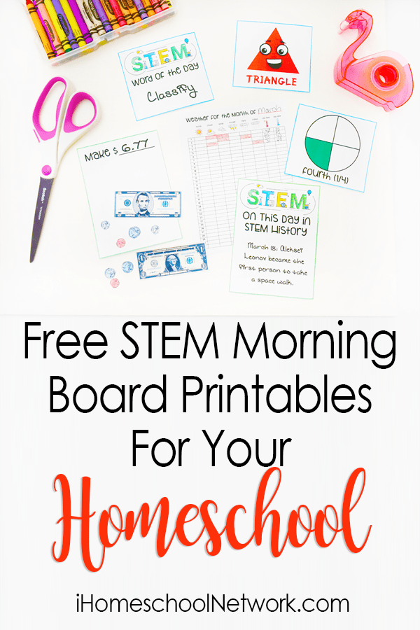 Free STEM Morning Board Printables
