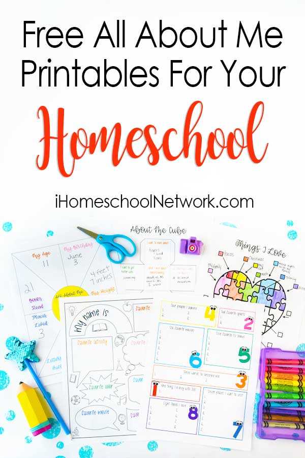 Free All About Me Printables for Back to School