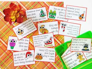 Free Holiday Fact Cards for Thanksgiving and Christmas