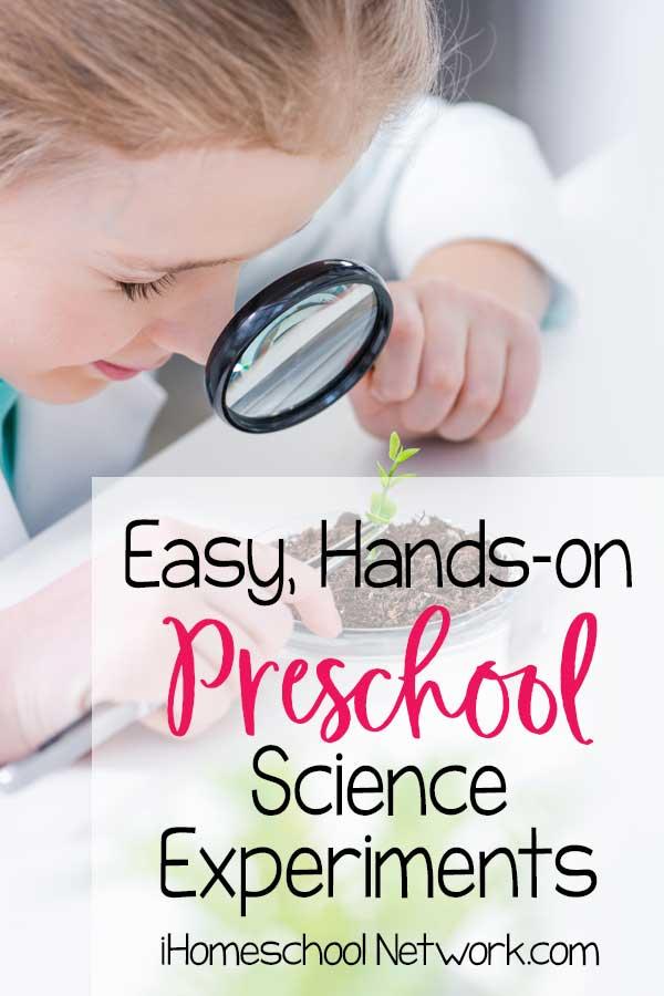 Easy, Hands-on Preschool Science Experiments