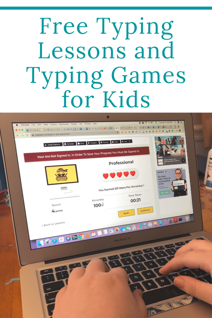 Free typing lessons and games for kids