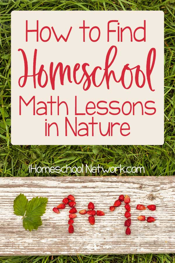 How to Find Homeschool Math Lessons in Nature